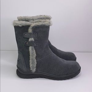 Minnetonka Gray Water Stain Proof Faux Lined Boots